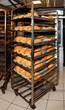 Steel rack with bread, commercial kitchen - 79791233
