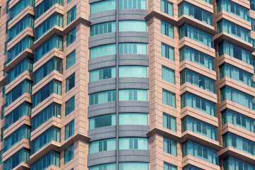 Urban house or building, facade pattern.