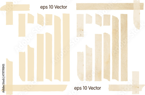 Set of Vector Illustrations of Adhesive Tapes - 79791843