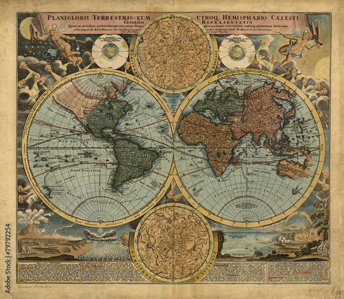 Vintage World map - 79792254