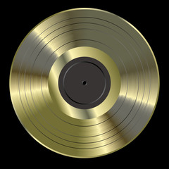 blank black golden LP