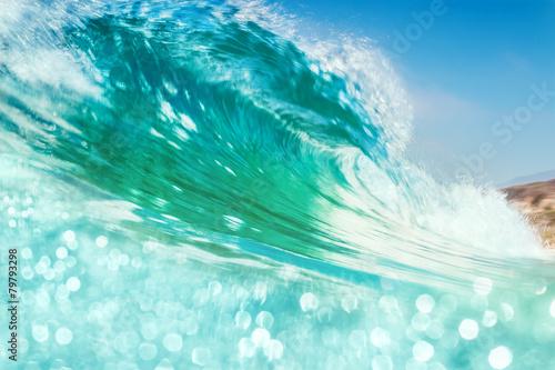 Aluminium Golven Breaking Wave with Bokeh