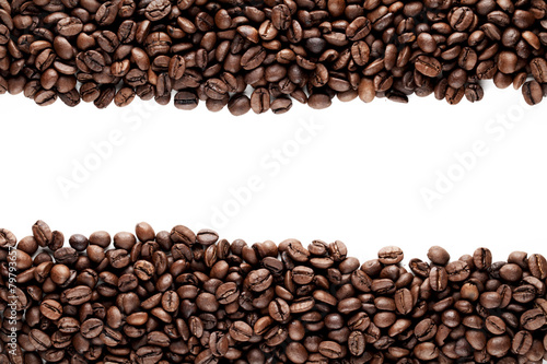 Foto op Canvas Koffie Frame of coffee beans