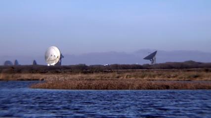 Establishing Scene Satellite Station