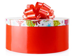 Colorful gift container, isolated