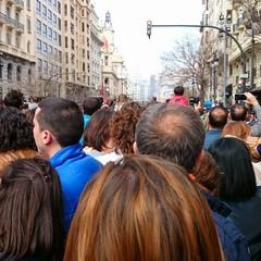 Muchedumbre en la calle