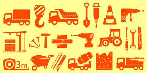 construction set yellow objects