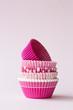 Pink cupcake cases