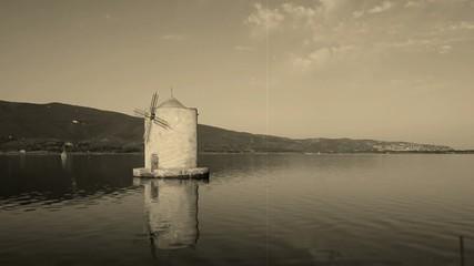 Orbetello Lagoon, Maremma, Italy, Old Movie Style