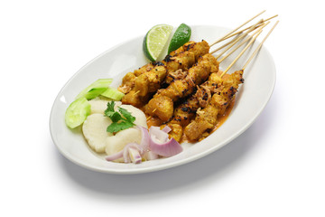 chicken satay, indonesian skewer cuisine