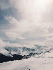 the top of loveland pass, the continental divide in colorado