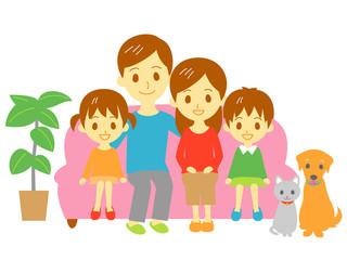 家族 ソファ