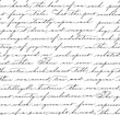 Seamless pattern with handwriting text. Calligraphy. - 79799203