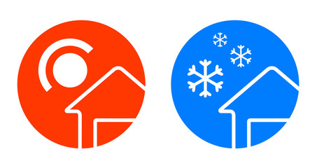 set of two weather icons