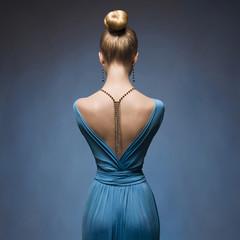 Fashionable Sexy back of girl