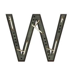 Alphabet technically, Letter W