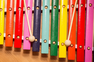 colorful wooden xylophone