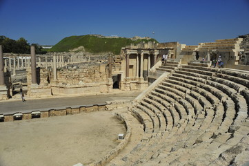 The amphitheatre in Beth Shean National Park, Israel