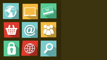 Miscellaneous Icons with space to insert text or design, Video a