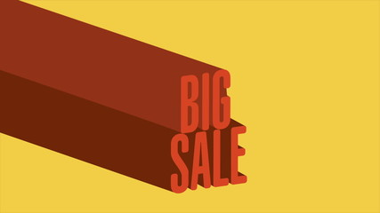 Big sale advertisement, Video animation, HD 1080