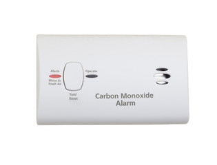 Carbon monooxide alarm wall mounted unit