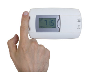 Wall mounted central air conditioner unit control