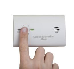 Carbon monoxide alarm wall mounted unit