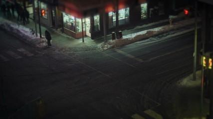 toronto night view of downtown