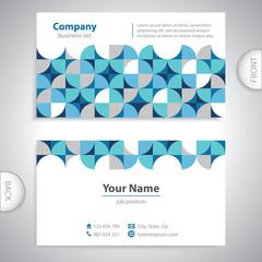 universal business card - geometric shapes