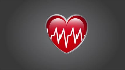 Heartbeat Design, Video animation, HD 1080