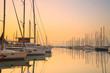 Sunset in Alimos marina in Athens, Greece. - 79802097