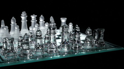 Move in chess on chesboard