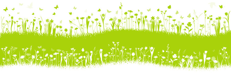 Blumenwiese Frühlingswiese Vektor Hintergrund