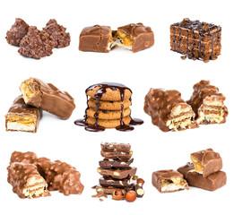 Set of chocolate dessert