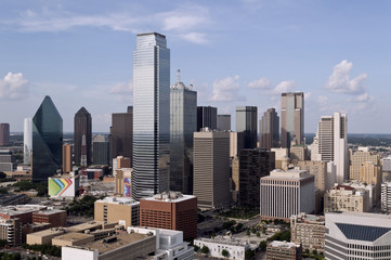 Skyline of Dallas Texas on a Sunny Day