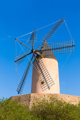 Mallorca Moli de Calvia wind mill in Majorca Balearic