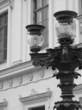 BLACK AND WHITE STREET LAMP