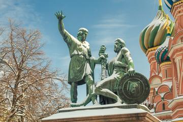 Памятник Минину и Пожарскому на Красной площади. Москва