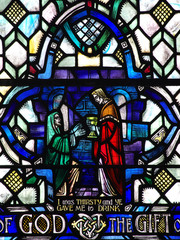 Good deed in stained glass