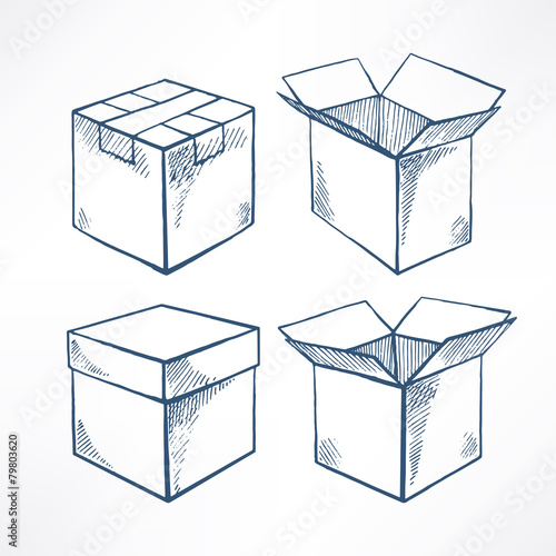 Set with four sketch boxes - 79803620