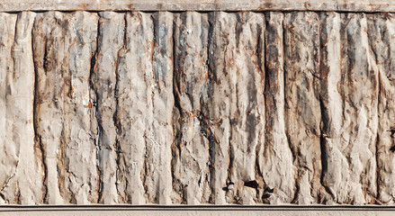 Metal wall texture, industrial cargo container side