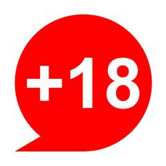 Icono texto +18