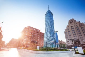 Torre Latinoamericana and Juarez avenue, Mexico