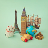 Travel around the world concept. Souvenir form around the world