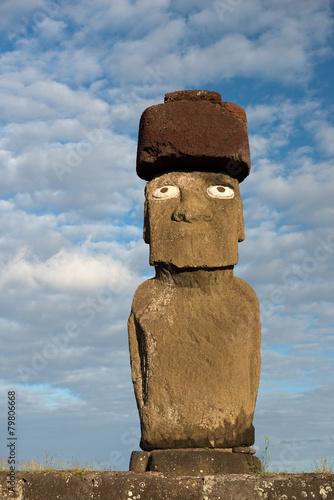 Leinwanddruck Bild Moai (Osterinsel, Rapa Nui)