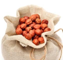 Hazelnut i the sack bag