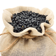 Black beans in the sack