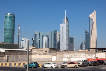 Street downtown in Kuwait City, Middle East