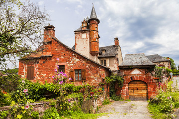 Collonges-la-Rouge - beautiful red village in France