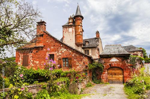 Papiers peints Europe Centrale Collonges-la-Rouge - beautiful red village in France